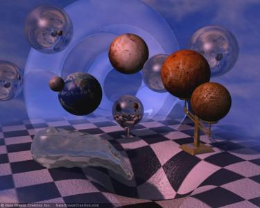 Tapeta: 3D koule 4
