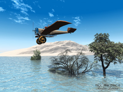 Tapeta: 3D letadlo