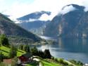 Tapeta Aurlandsfjord, Norsko