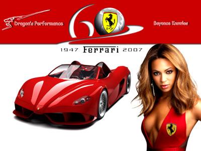 Tapeta: Beyonce vs. Ferrari