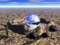 Tapeta Blue Desert