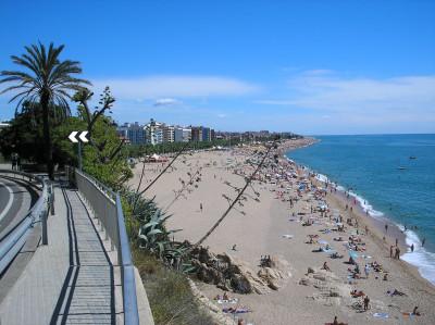 Tapeta: Calella-pohled na pláž