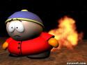 Tapeta Cartman a oheň