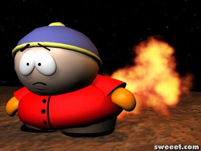 Tapeta: Cartman a oheň