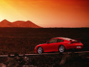 Tapeta Červené Porsche na poušti