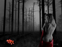 Tapeta dívka v lese