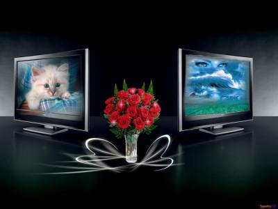 Tapeta: dva monitory