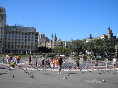 Tapeta: E-Barcelona-Placa deCatalunya4