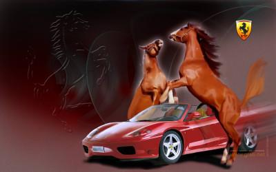 Tapeta: Ferrari art