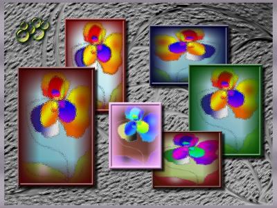 Tapeta: galerie s bublinkami