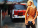 Tapeta hasiči a kráska
