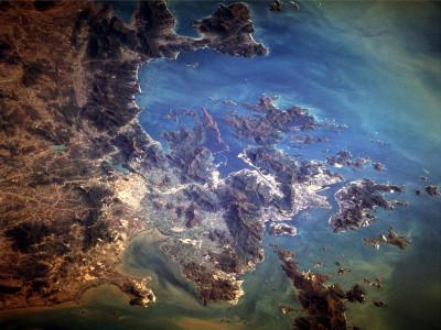 Tapeta: Hong Kong z vesmíru