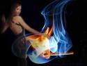 Tapeta Hra s ohněm