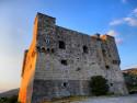 Tapeta hrad při západu