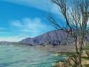 Tapeta Jezero v kaňonu