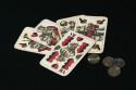 Tapeta karty a mince