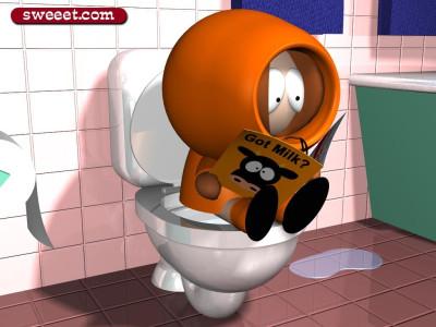 Tapeta: Kenny a záchod