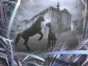 Tapeta Koně v podhradí