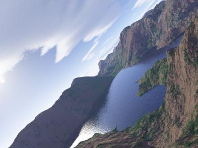 Tapeta: Let nad jezerem