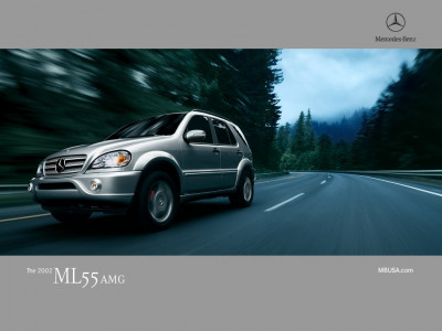 Tapeta: Mercedes ML55 AMG