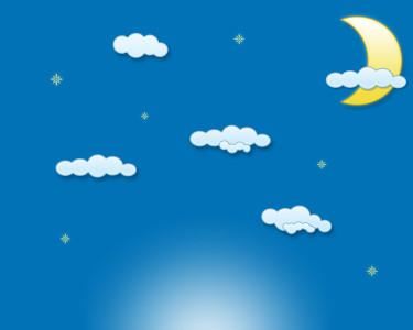 Tapeta: Měsíc a mraky