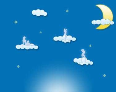 Tapeta: Měsíc a mraky1