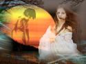 Tapeta Měsíční dívka