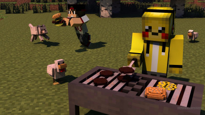 Tapeta: minecraft barbecue