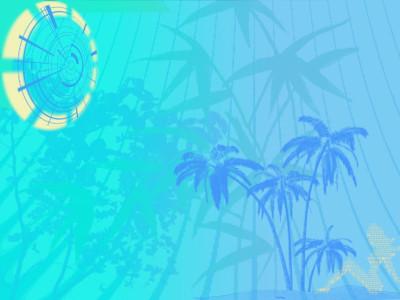 Tapeta: Modrá pláž