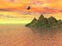Tapeta Moře a ostrov