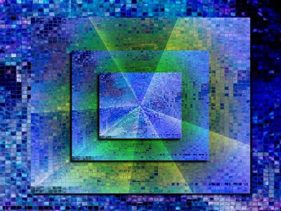 Tapeta: mozaika v modrém