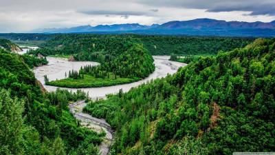 Tapeta: Národní park Denali, Aljaška,