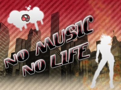 Tapeta: no music no life