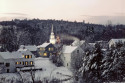 Tapeta Zimní vesnička