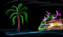 Tapeta palma a moře