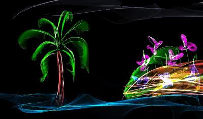 Tapeta: palma a moře