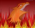 Tapeta Phoenix v ohni