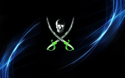 Tapeta: Pirátská lebka