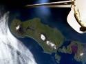 Tapeta pohled z družicč