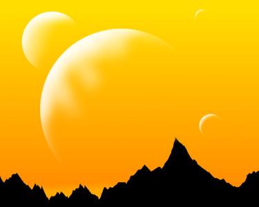 Tapeta: Pomerančová planeta