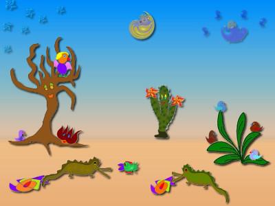 Tapeta: pouště