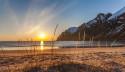 Tapeta Půlnoční slunce, Ersfjordbotn