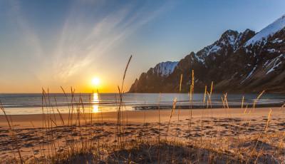 Tapeta: Půlnoční slunce, Ersfjordbotn