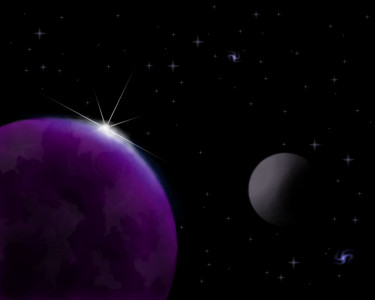 Tapeta: Purpurová planeta