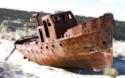 Tapeta Rezavá loď