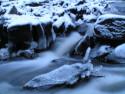 Tapeta Řeka v zimě