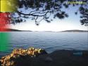 Tapeta rozkoš u chorvatského Trogiru
