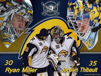 Tapeta: Ryan Miller, Jocelyn Thibault
