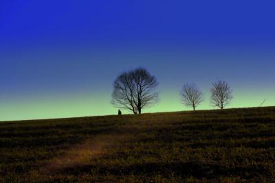 Tapeta: samota s farbami