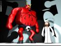 Tapeta Satan vs Ježíš